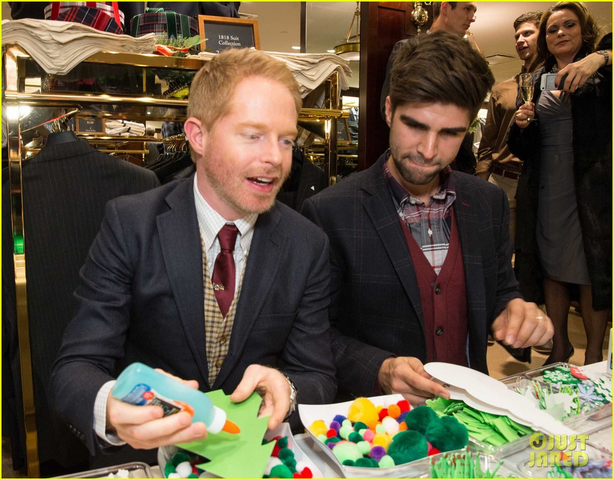 jesse tyler ferguson colton haynes brook brothers holiday celebration 113009717