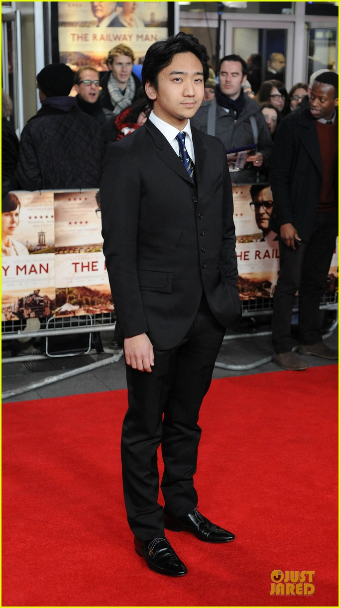 colin firth jeremy irvine railway man london premiere 053005006