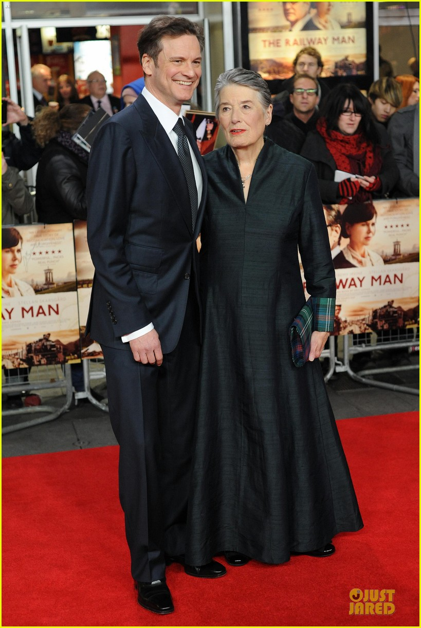 colin firth jeremy irvine railway man london premiere 17