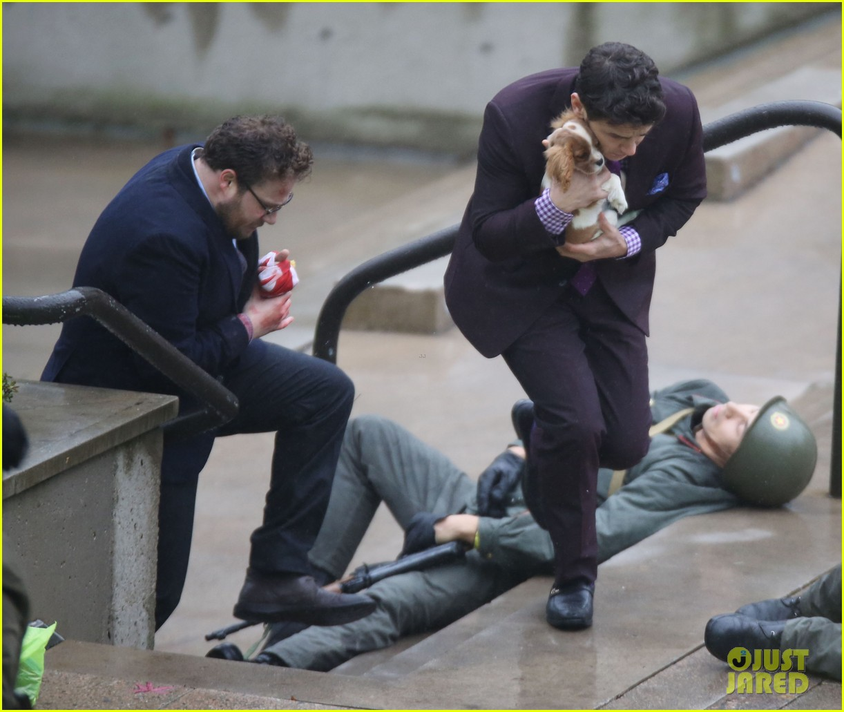 james franco cradles puppy with seth rogen for interview 203002931