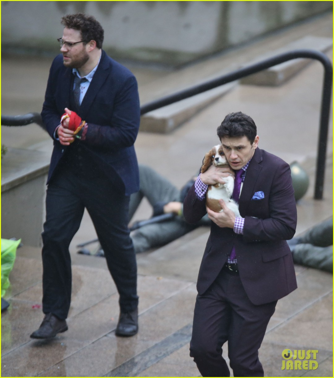 james franco cradles puppy with seth rogen for interview 22
