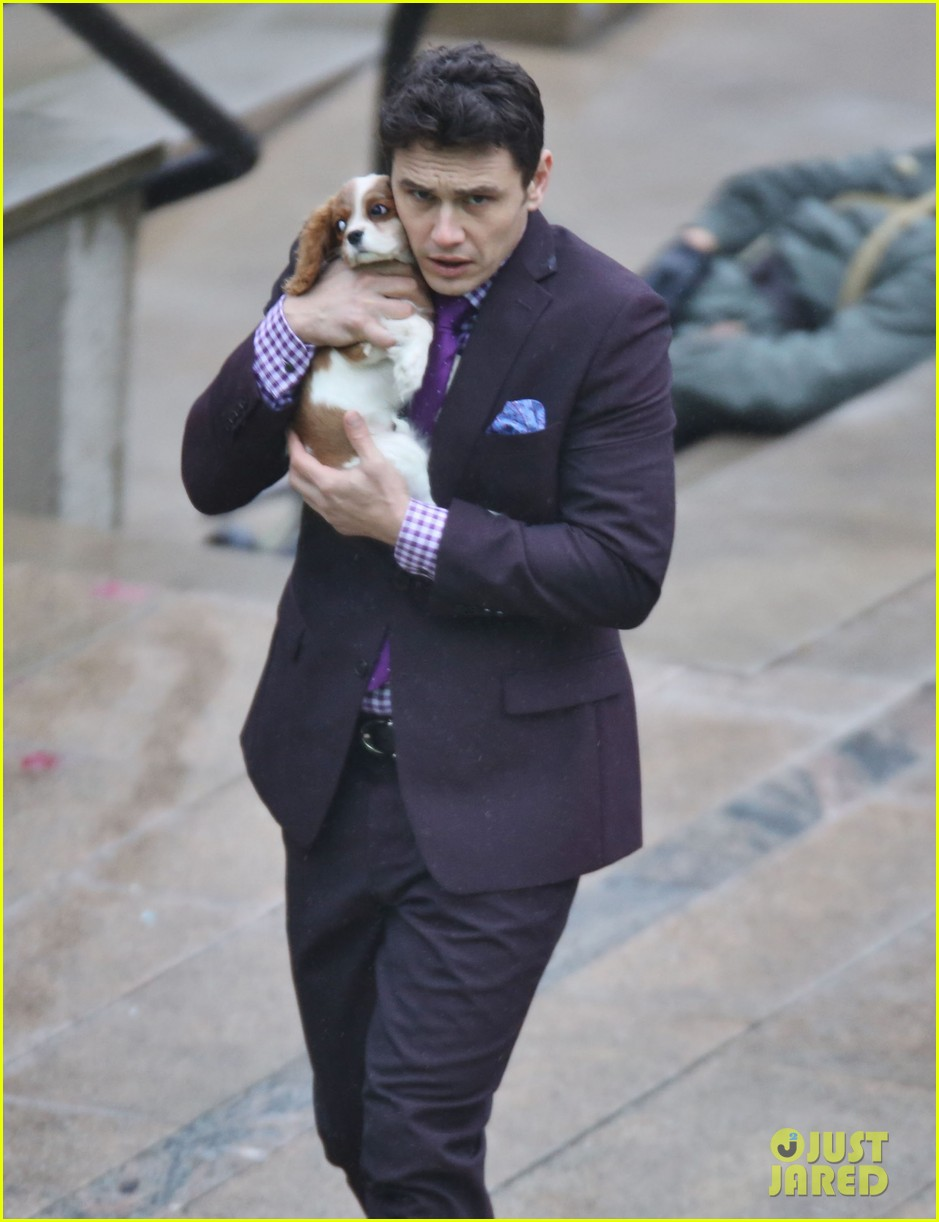 james franco cradles puppy with seth rogen for interview 233002934