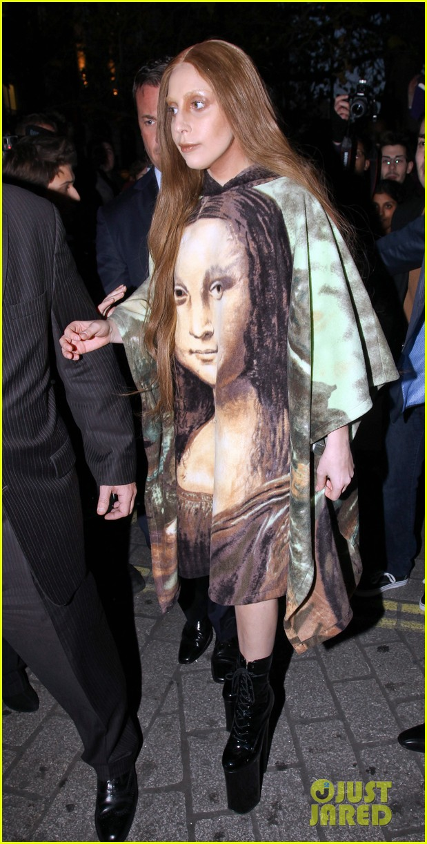 lady gaga displays mona lisa dress in london 123004969