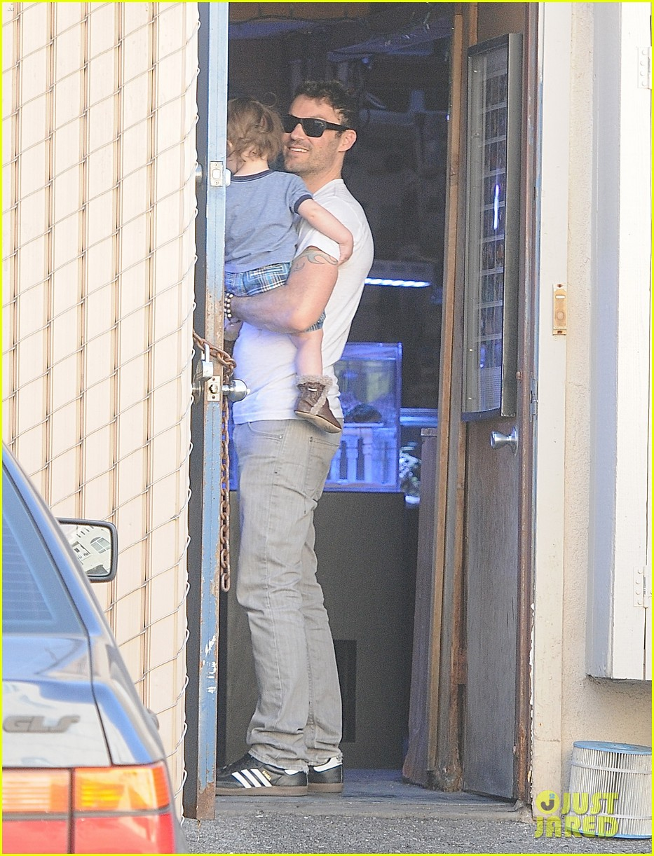 brian austin green steps out with 15 month old son noah 053020009