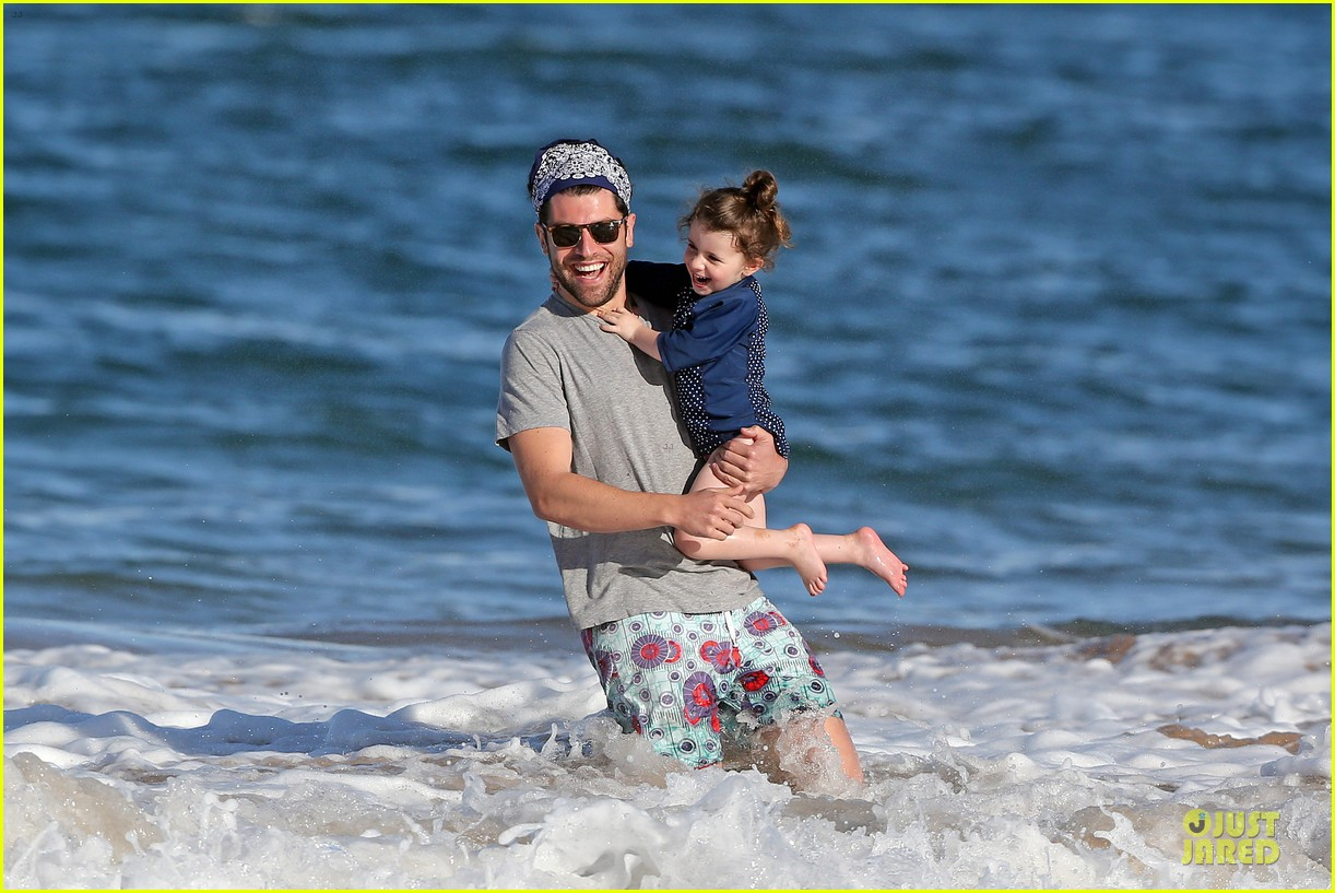 max greenfield shirtless vacation with bikini clad wife tess 183020284