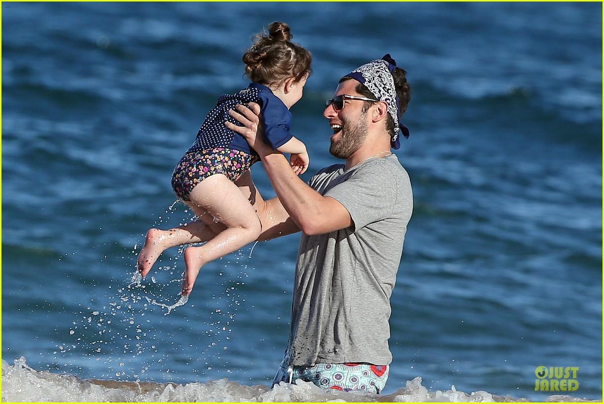 max greenfield shirtless vacation with bikini clad wife tess 233020289