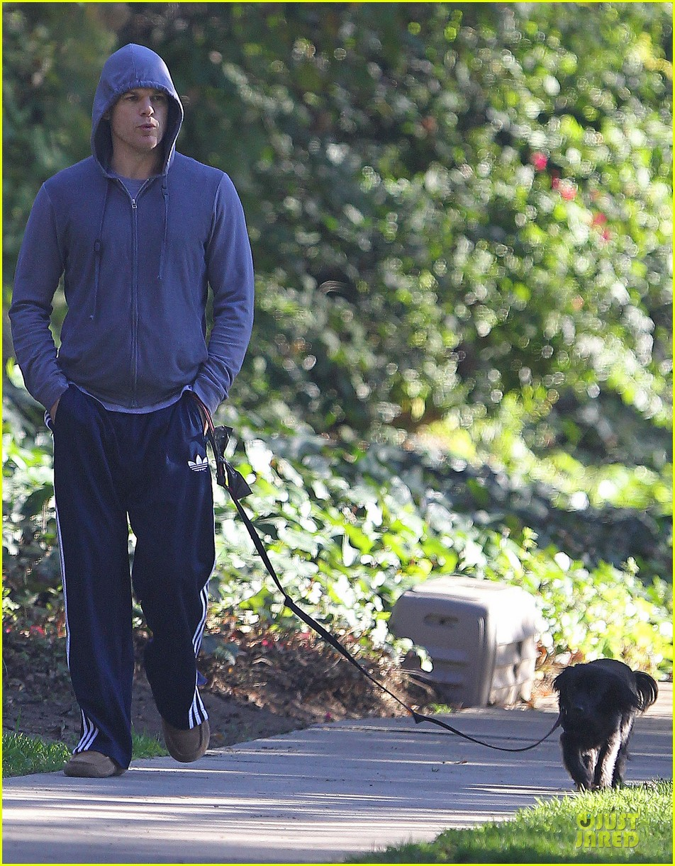 michael c hall low profile walk with pet pooch 033019025