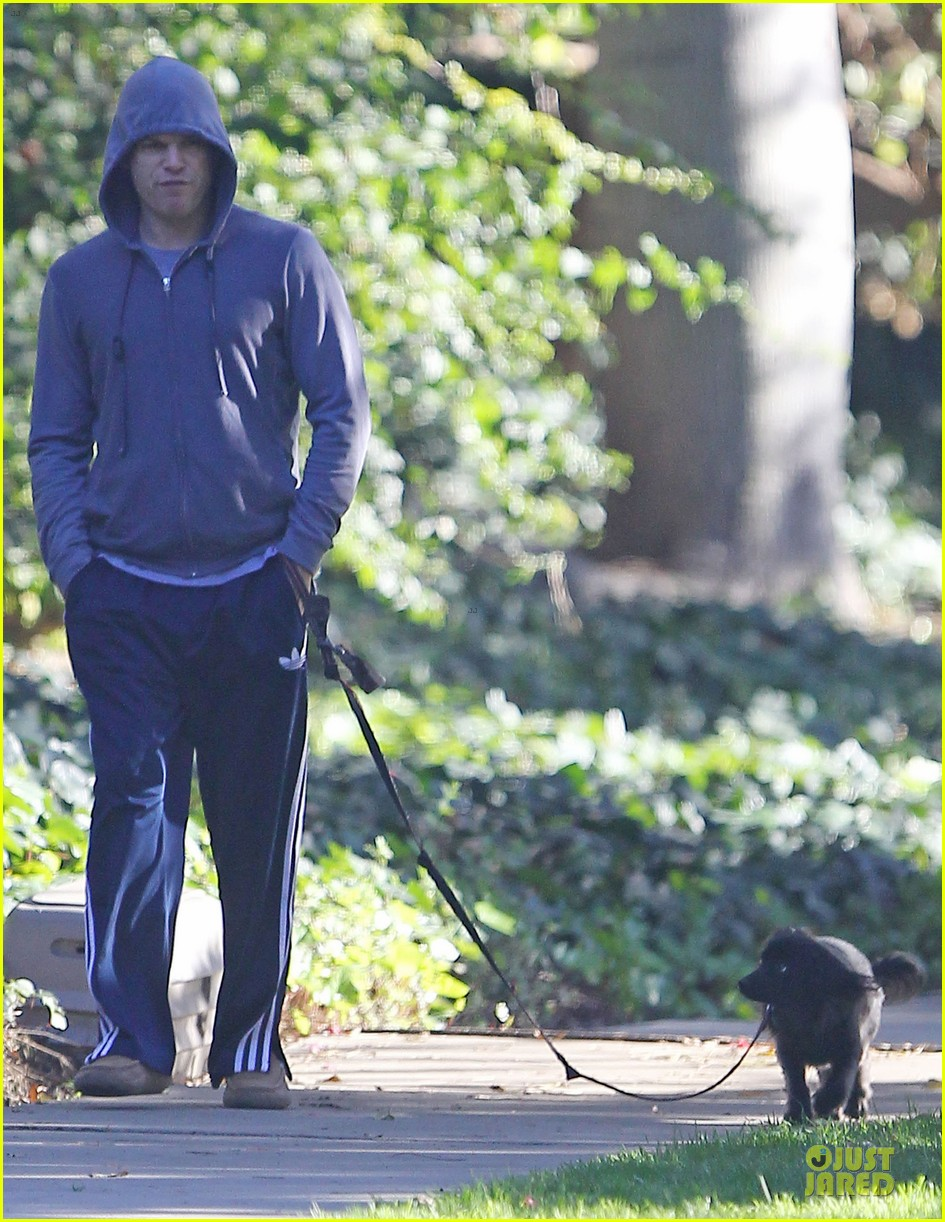 michael c hall low profile walk with pet pooch 063019028