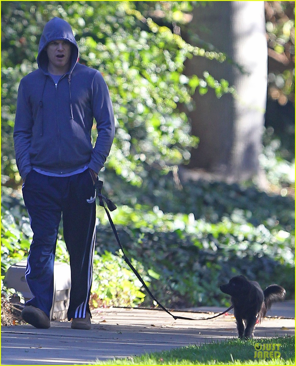 michael c hall low profile walk with pet pooch 073019029