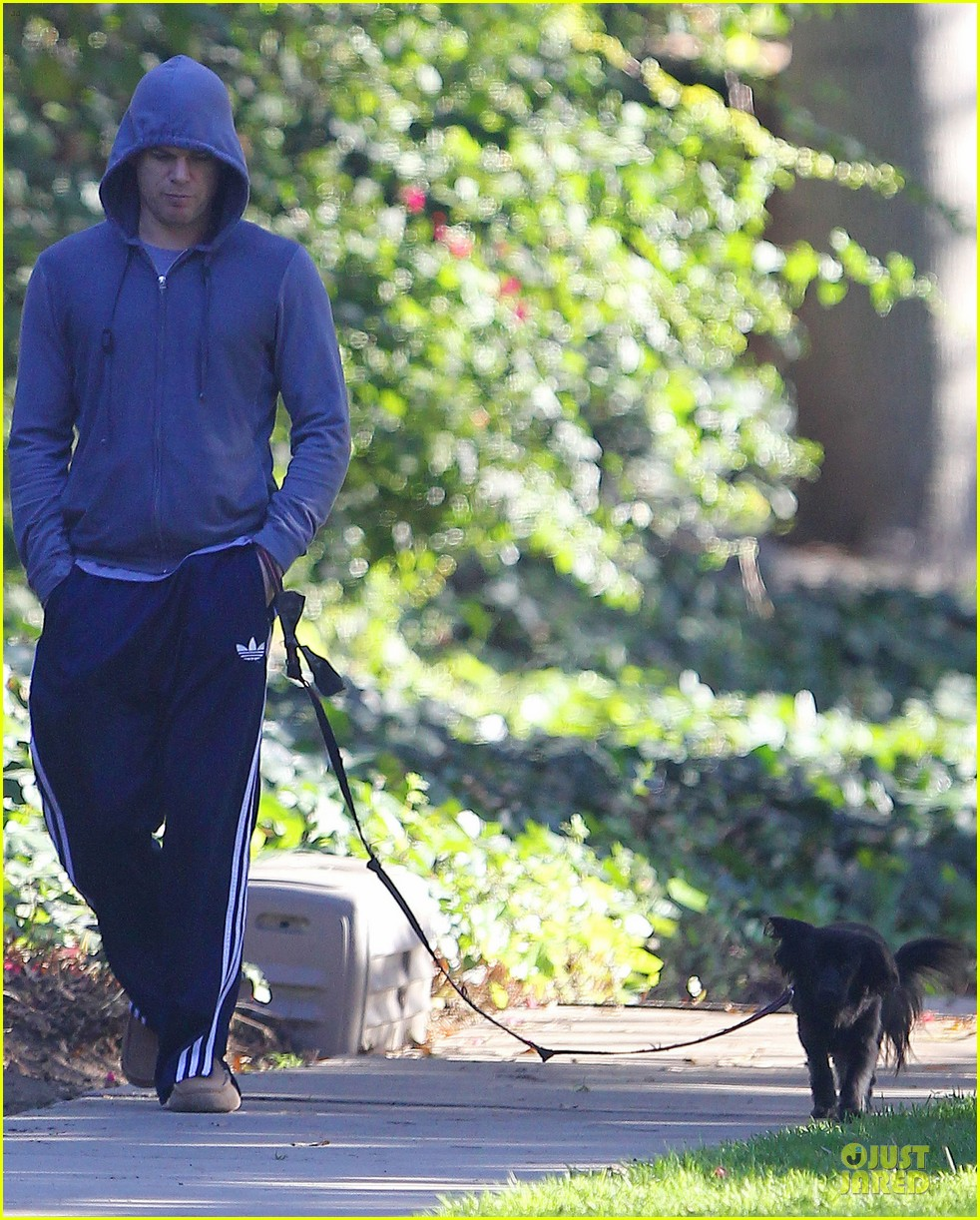 michael c hall low profile walk with pet pooch 093019031