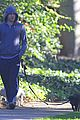 michael c hall low profile walk with pet pooch 01