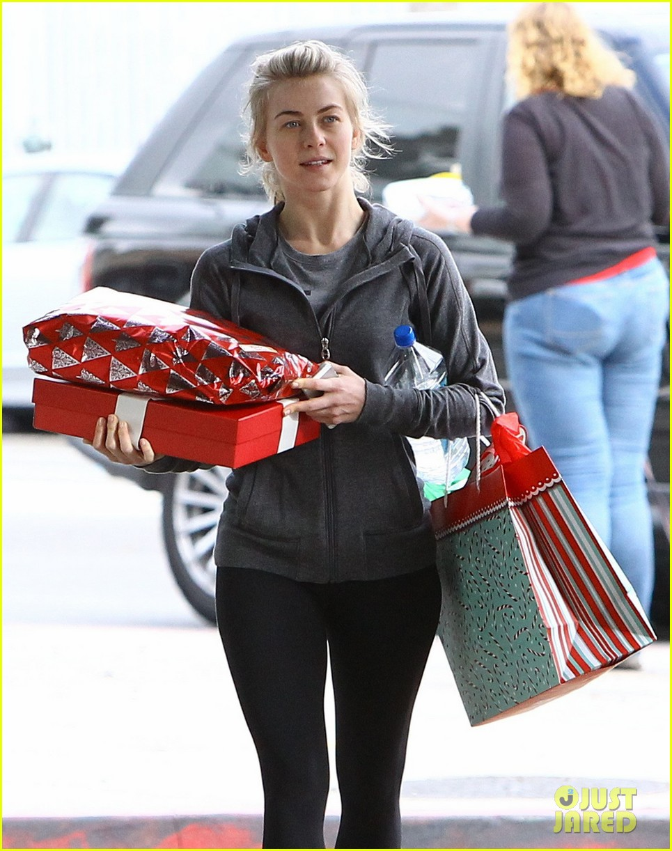 julianne hough is ready for christmas with armful of gifts 043015289