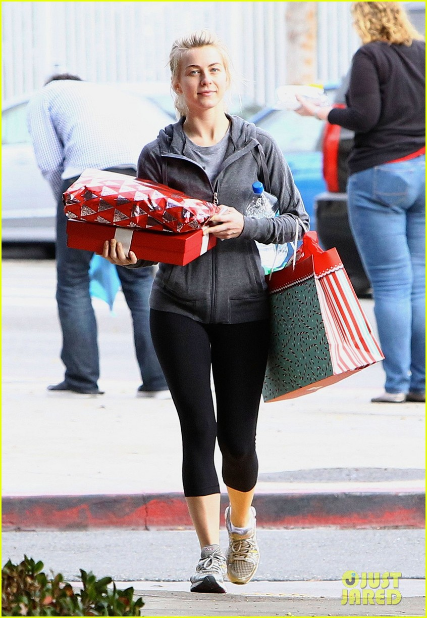 julianne hough is ready for christmas with armful of gifts 063015291