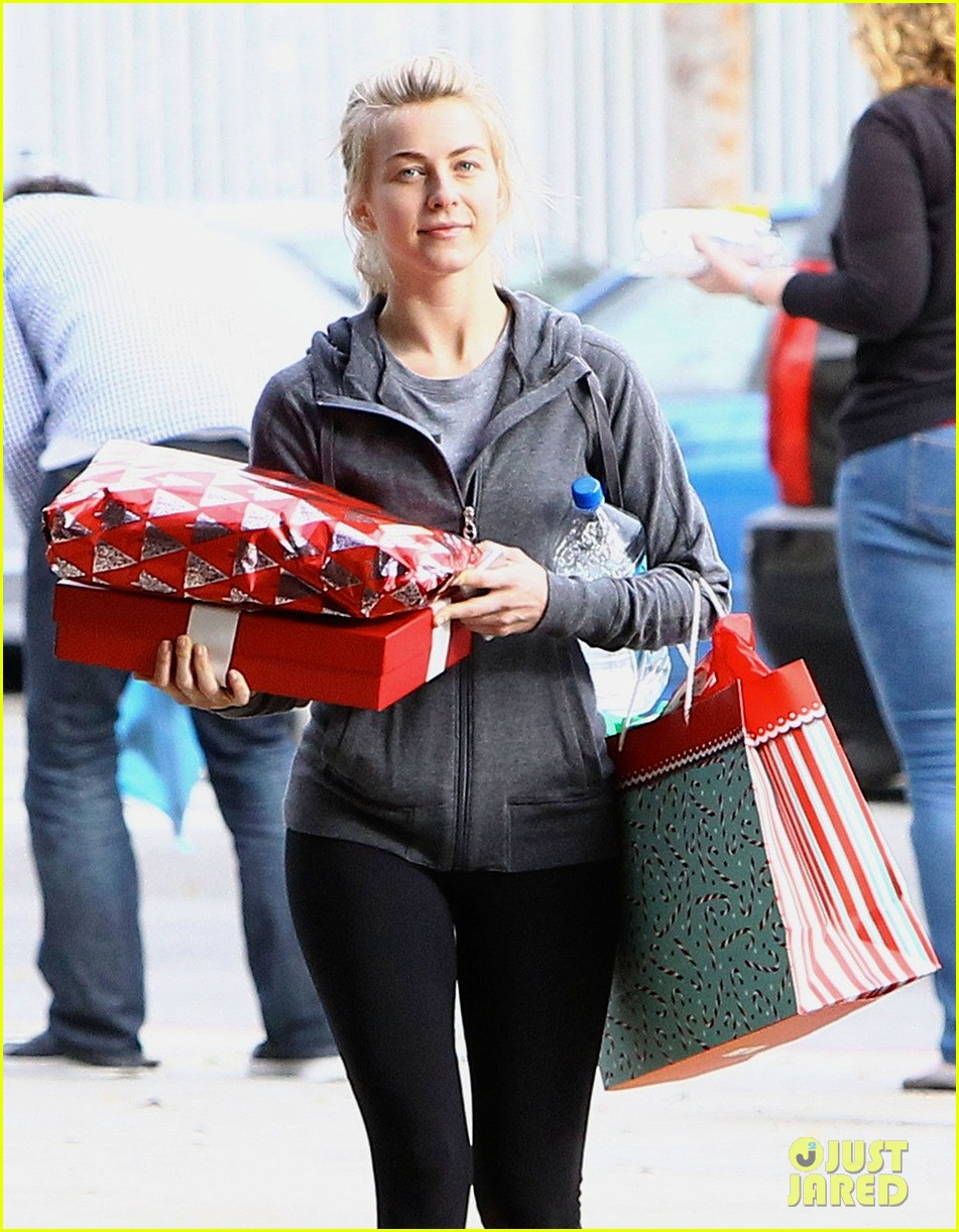 julianne hough is ready for christmas with armful of gifts 073015292