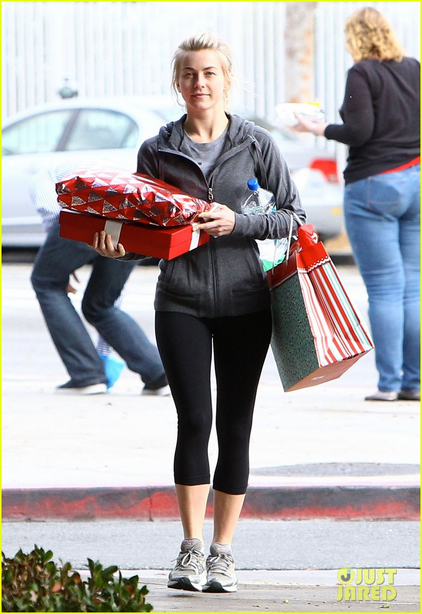 julianne hough is ready for christmas with armful of gifts 083015293