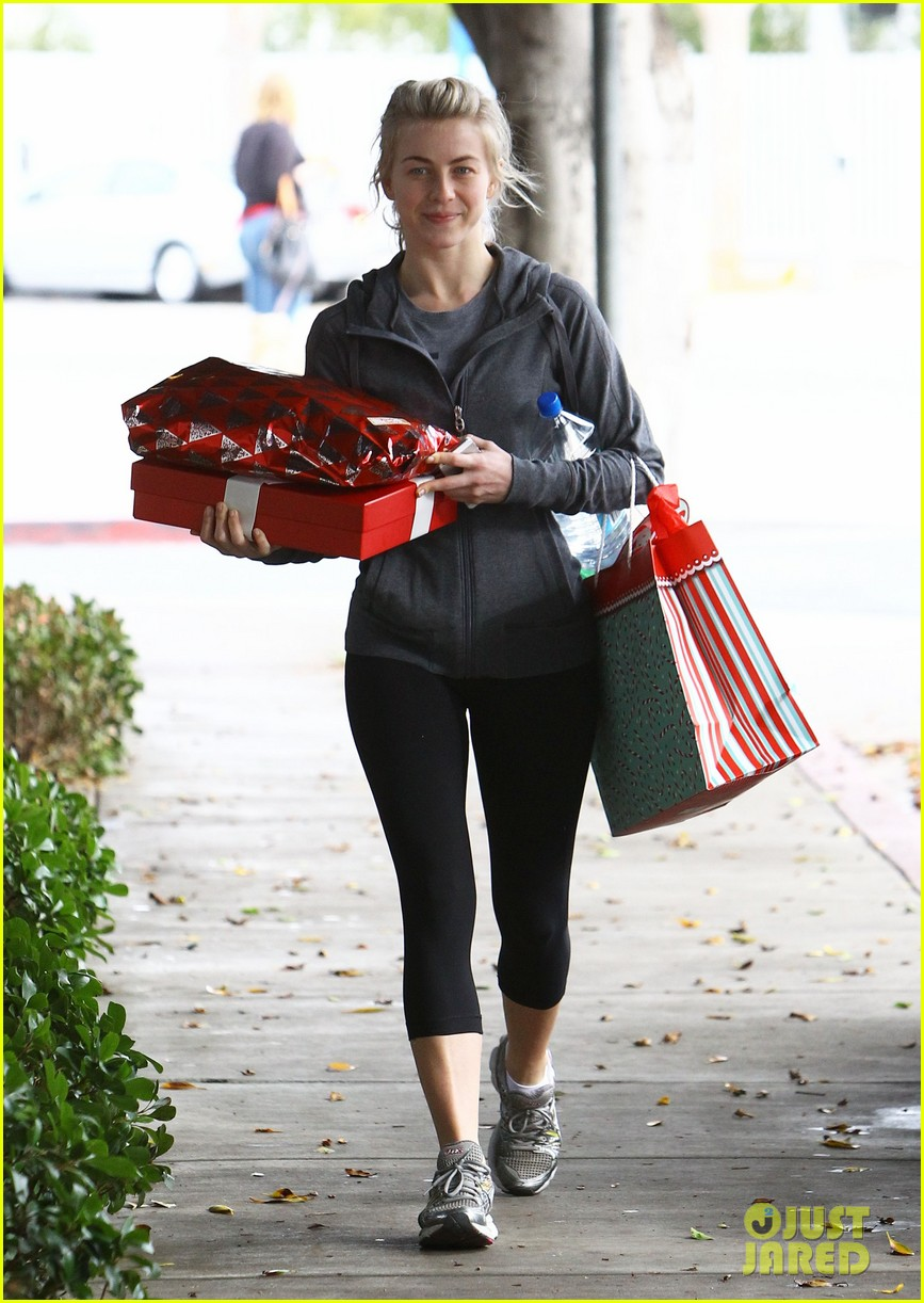 julianne hough is ready for christmas with armful of gifts 183015303