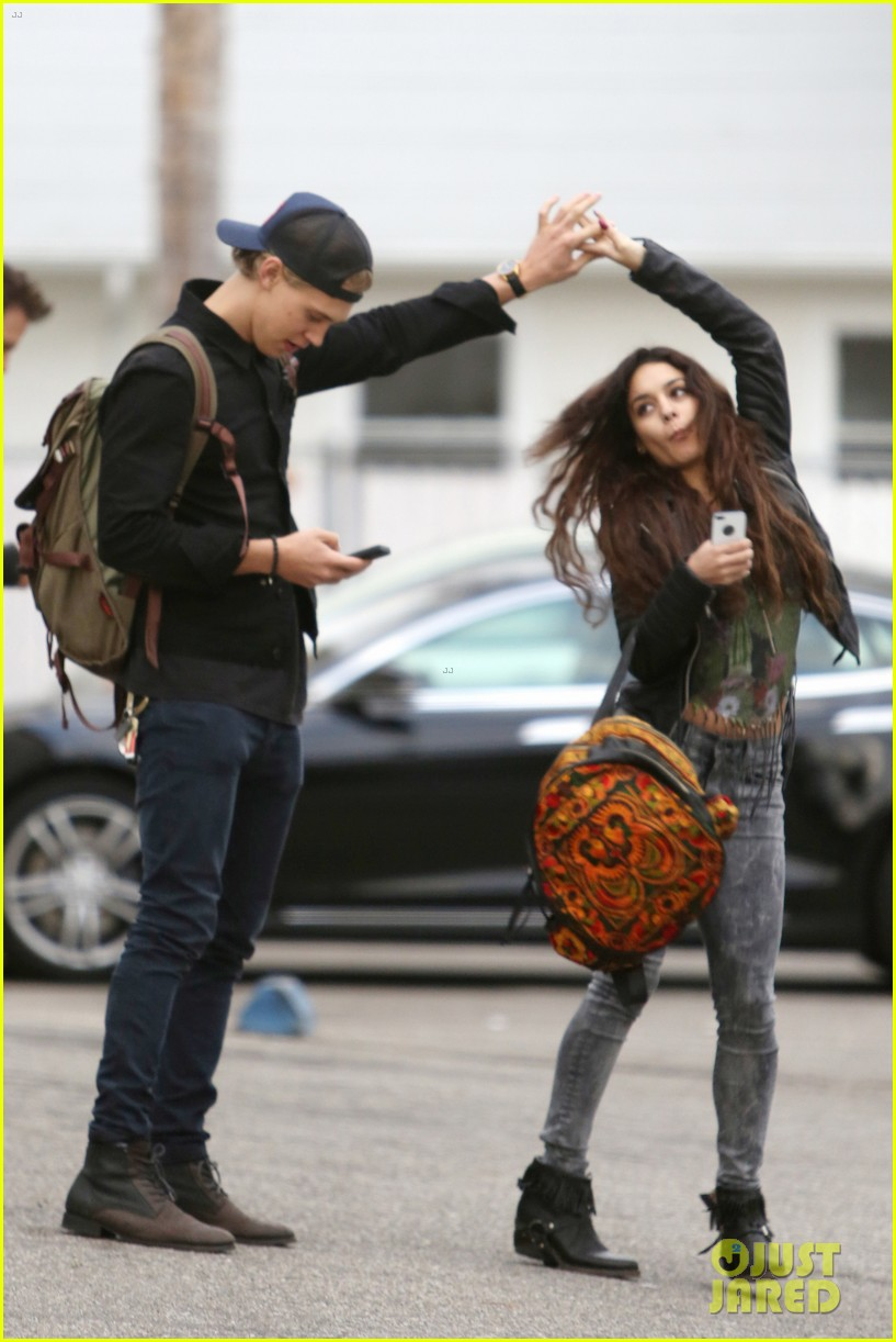 vanessa hudgens dance take silly selfies in a parking lot 033014644