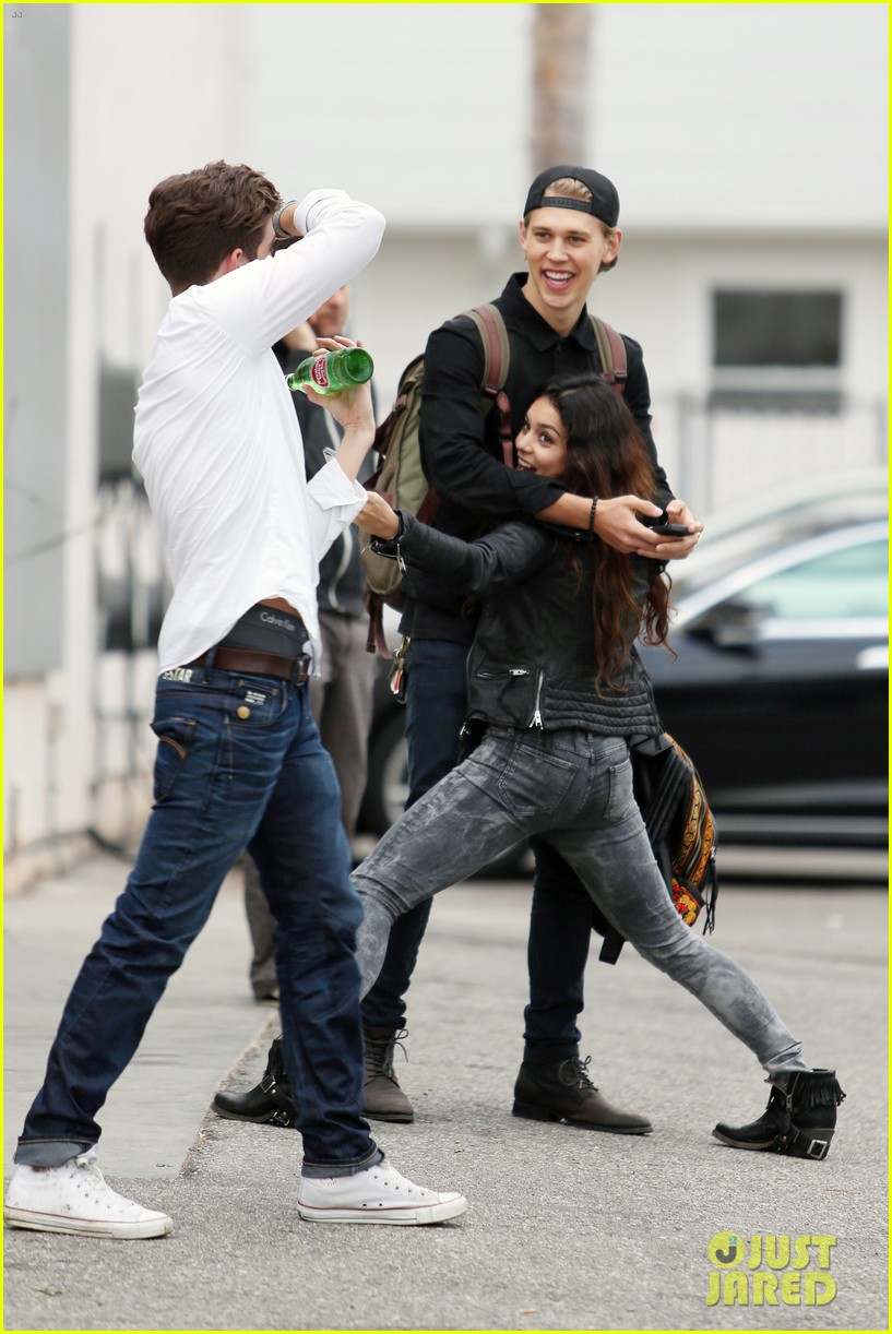 vanessa hudgens dance take silly selfies in a parking lot 203014661