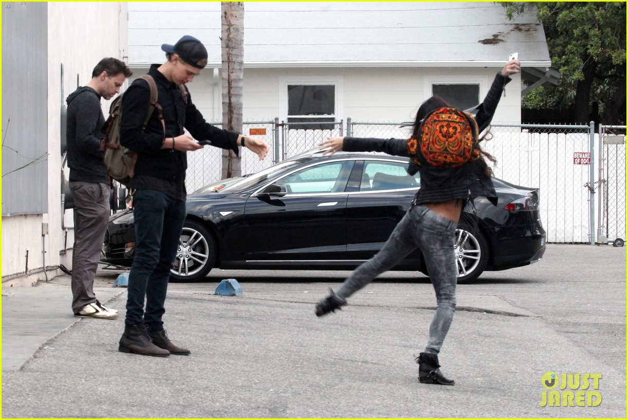 vanessa hudgens dance take silly selfies in a parking lot 213014662