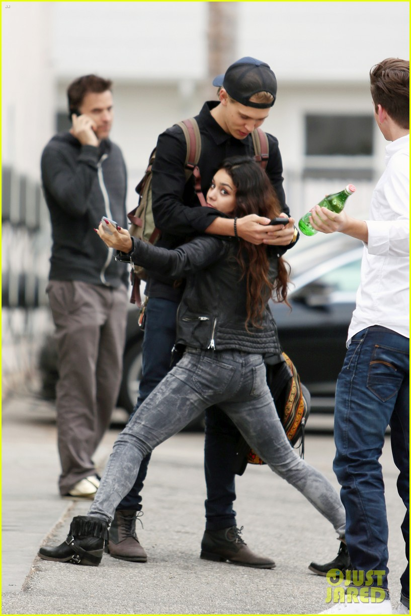 vanessa hudgens dance take silly selfies in a parking lot 303014671