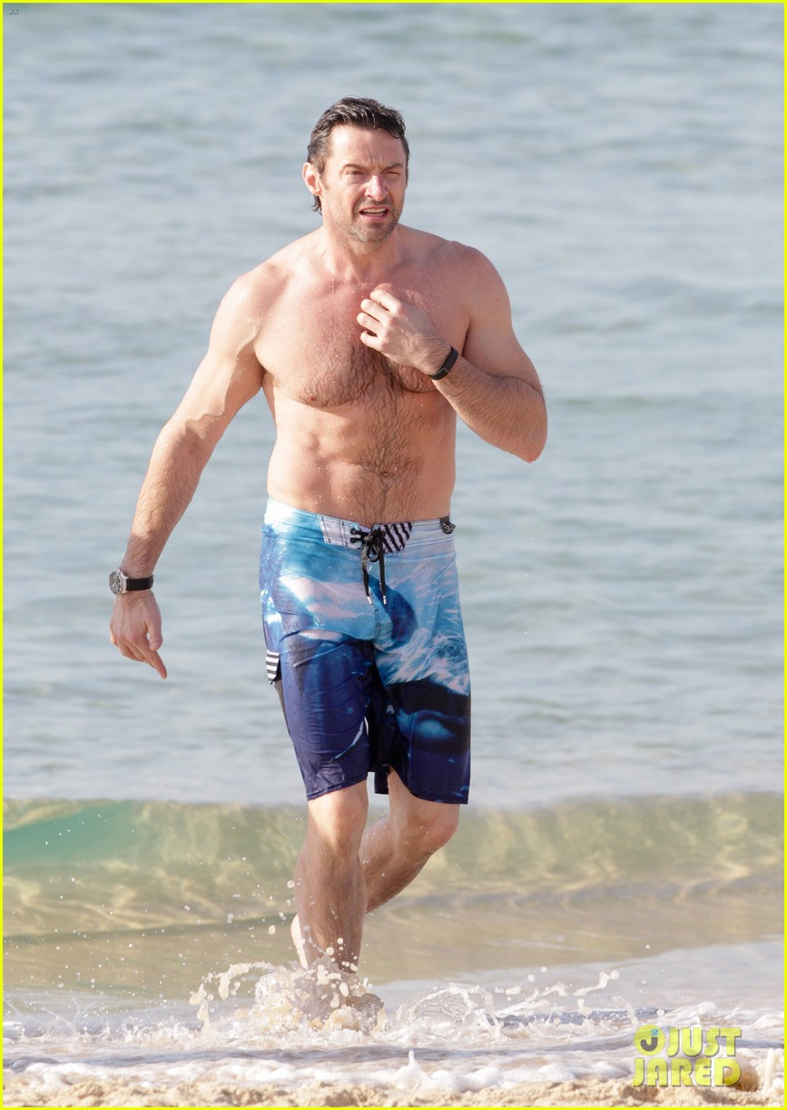 hugh jackman goes sexy shirtless after pan casting news 29