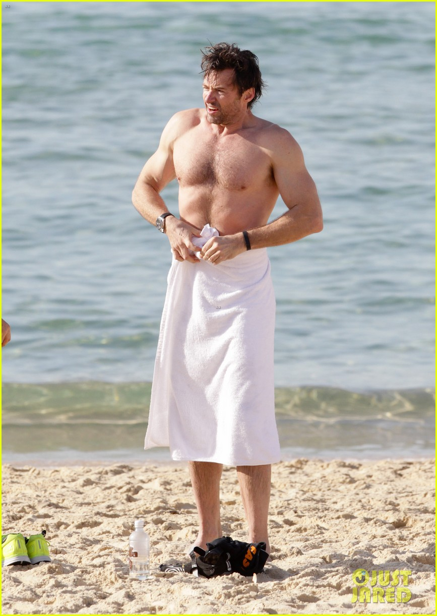 hugh jackman goes sexy shirtless after pan casting news 303015081