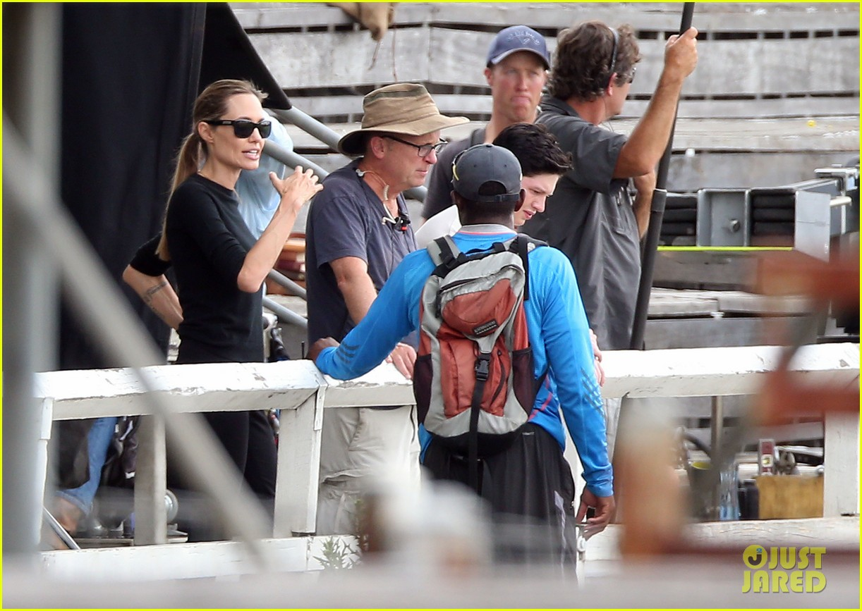 angelina jolie back to work for unbroken after family weekend 113008182