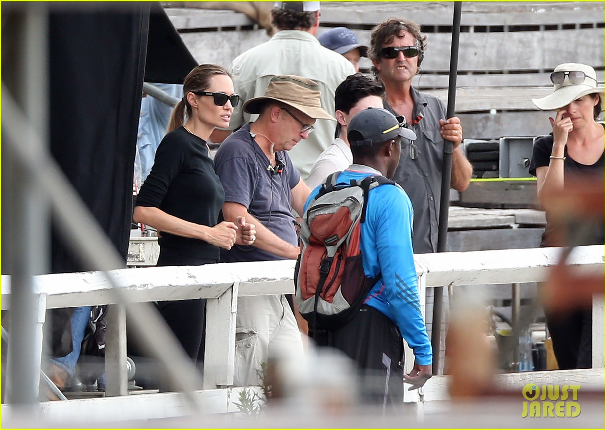 angelina jolie back to work for unbroken after family weekend 223008193