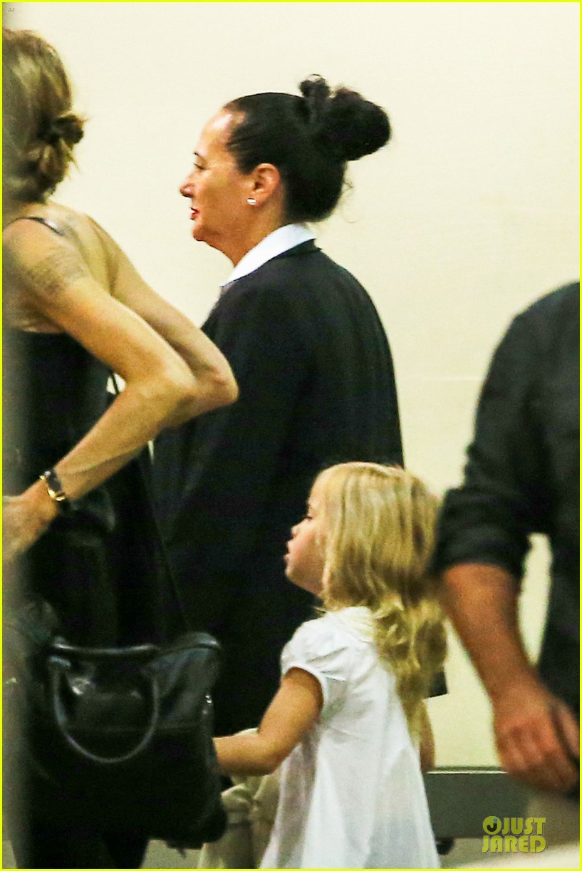 angelina jolie sydney holiday departure with the kids 063015753