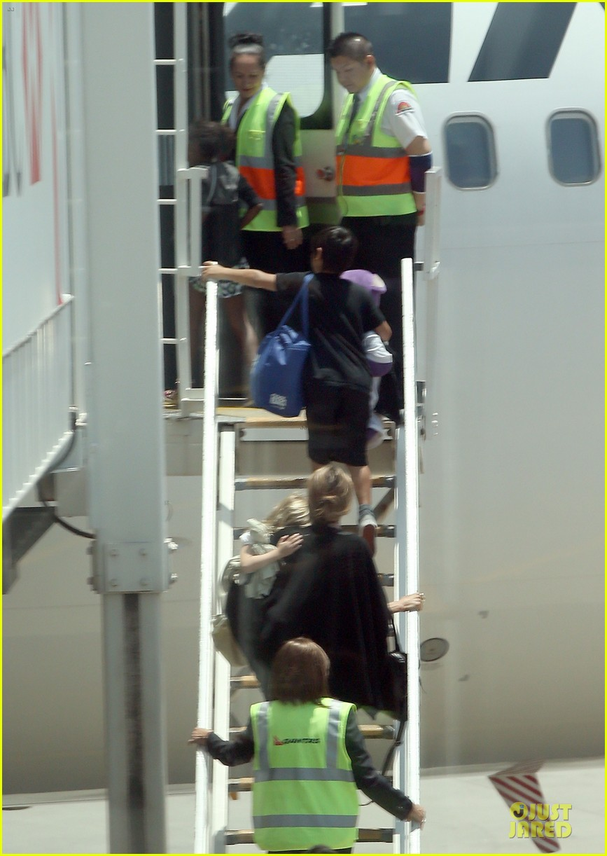angelina jolie sydney holiday departure with the kids 103015757