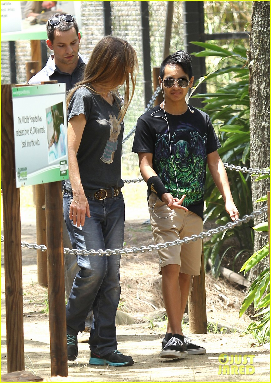 angelina jolie brad pitt visit the zoo with all six kids 173018253