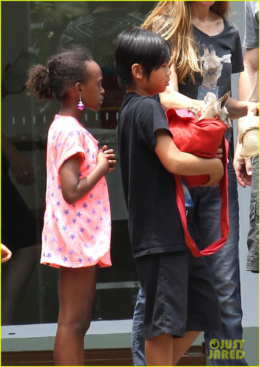 angelina jolie brad pitt visit the zoo with all six kids 563018292