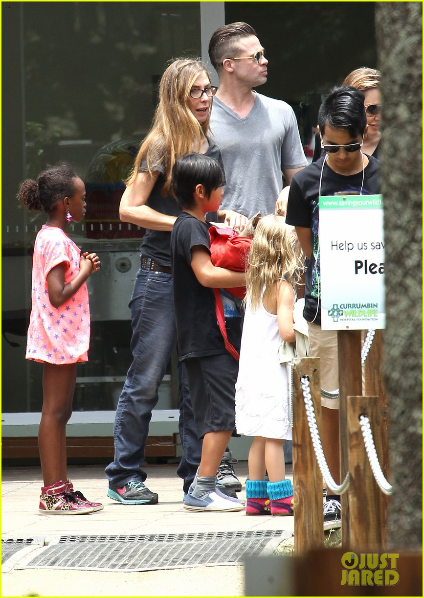 angelina jolie brad pitt visit the zoo with all six kids 613018297