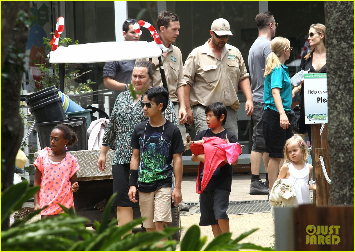 angelina jolie brad pitt visit the zoo with all six kids 673018303