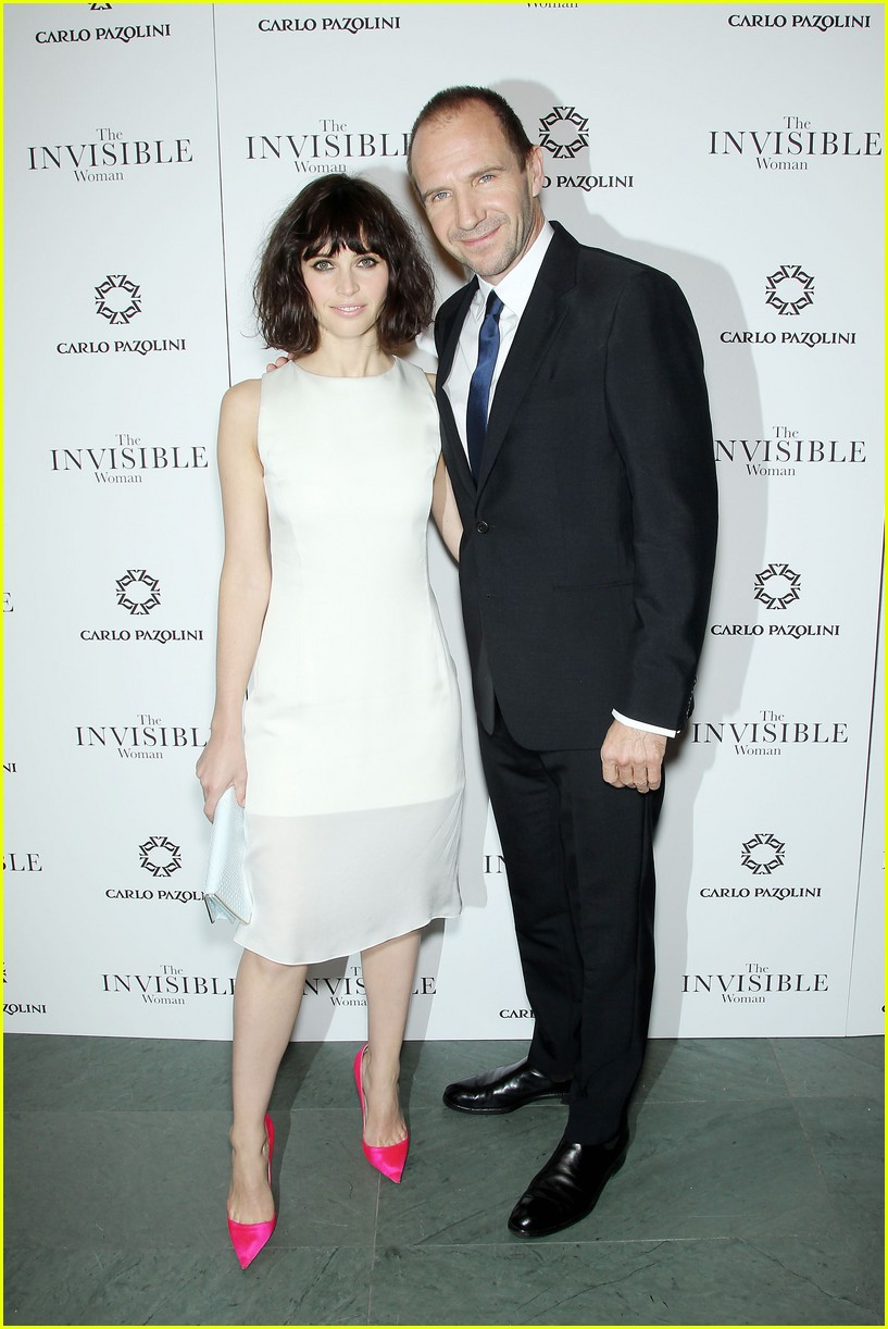 felicity jones ralph fiennes invisible woman nyc screening 083008805