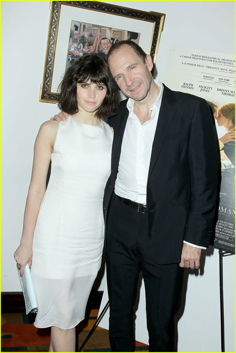felicity jones ralph fiennes invisible woman nyc screening 183008815