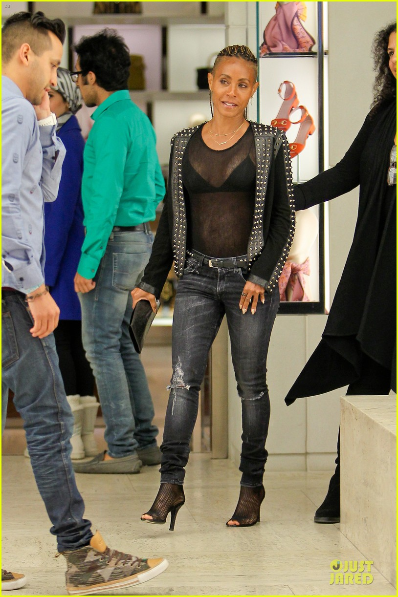 jada pinkett smith flashes black bra in sexy sheer top 133010285