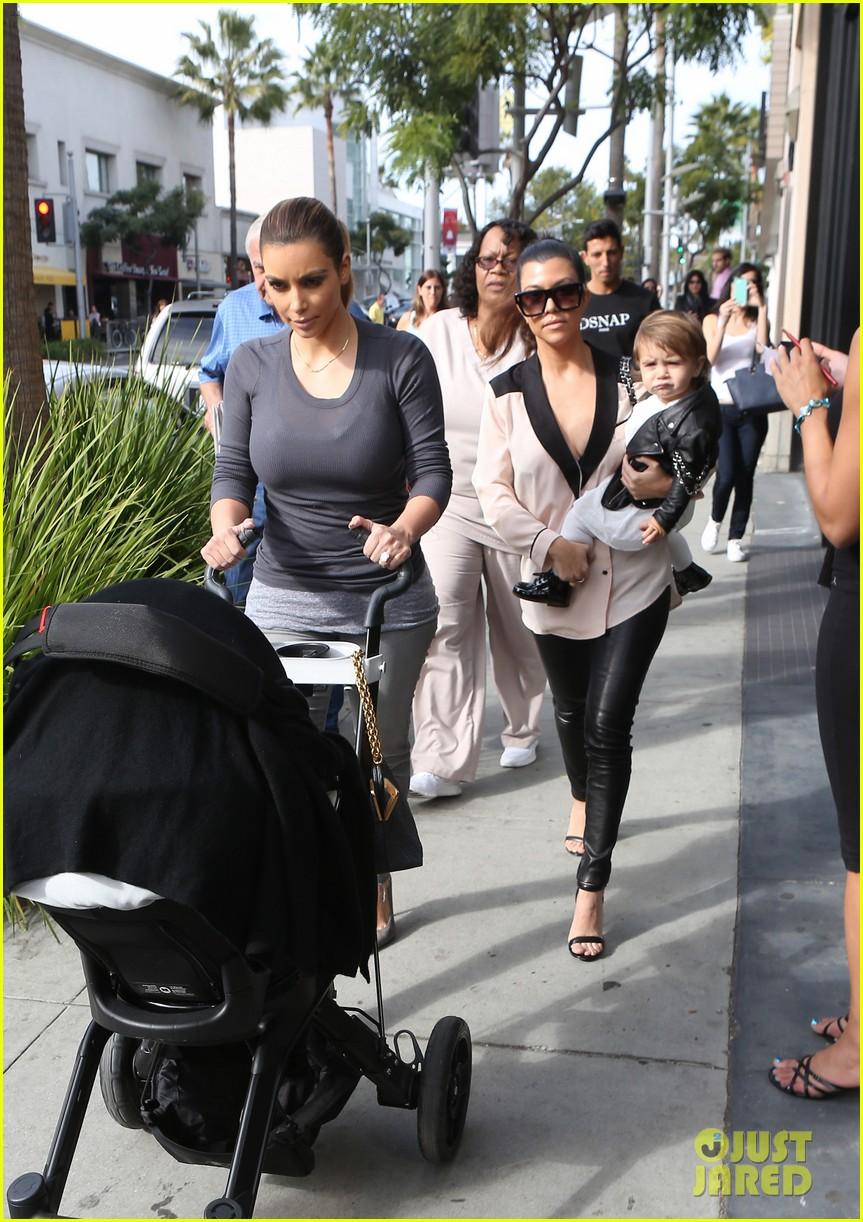 kim kourtney kardashian get lunch with their daughters 223013128