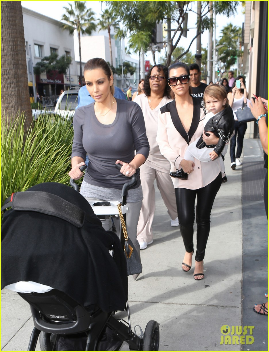 kim kourtney kardashian get lunch with their daughters 233013129