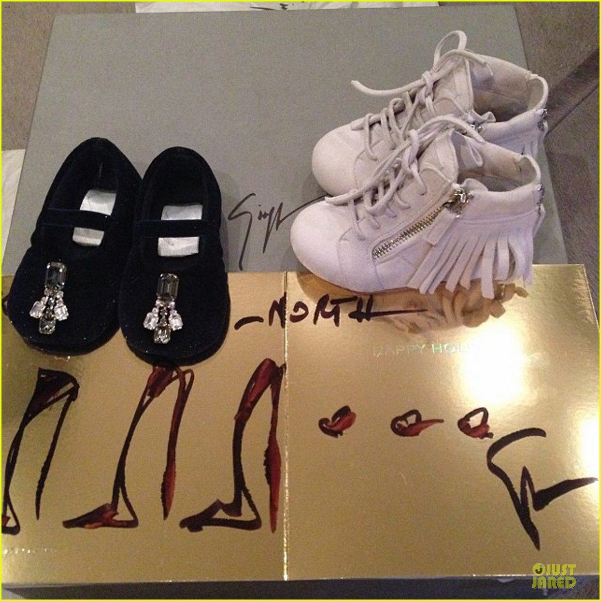 kim kardashian shows off north west designer christmas gifts 043016825