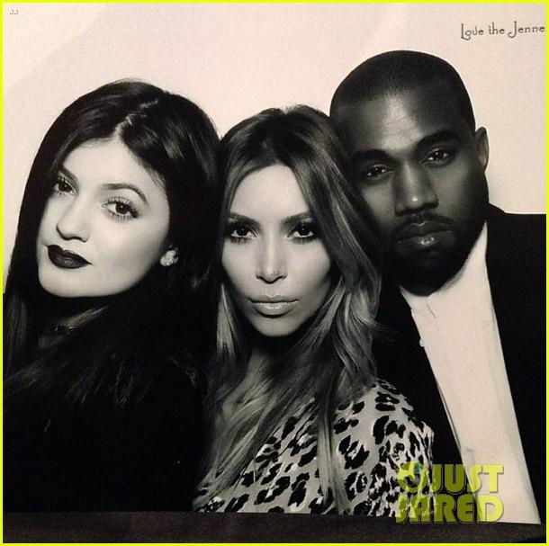 kim kardashian kanye west kardashian christmas party 2013 013017578