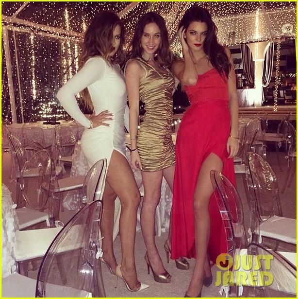 kim kardashian kanye west kardashian christmas party 2013 053017582