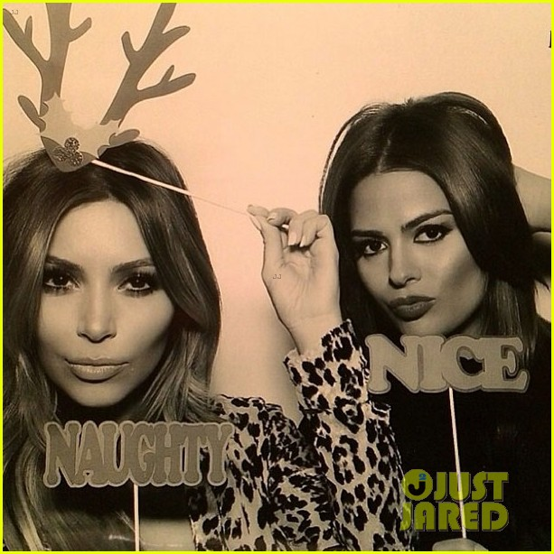 kim kardashian kanye west kardashian christmas party 2013 063017583