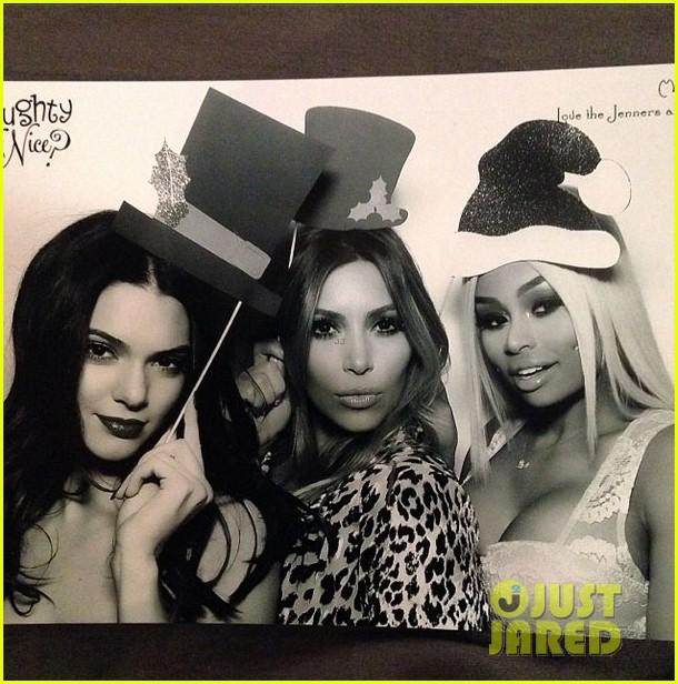 kim kardashian kanye west kardashian christmas party 2013 073017584