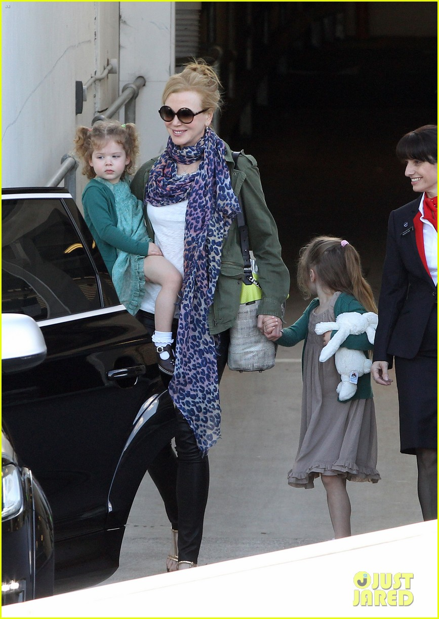 nicole kidman australia arrival with faith sunday 233014417