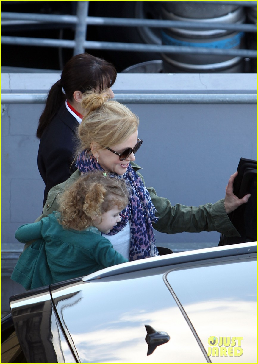 nicole kidman australia arrival with faith sunday 303014424
