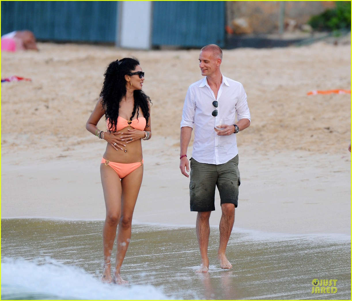 kimora lee simmons bright bikini babe with mystery man 053018577