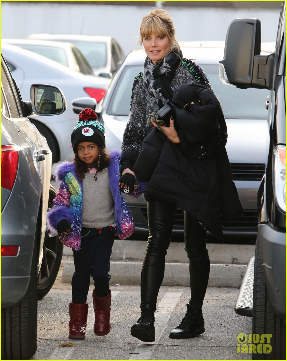 heidi klum spends weekend with her daughters 033007992