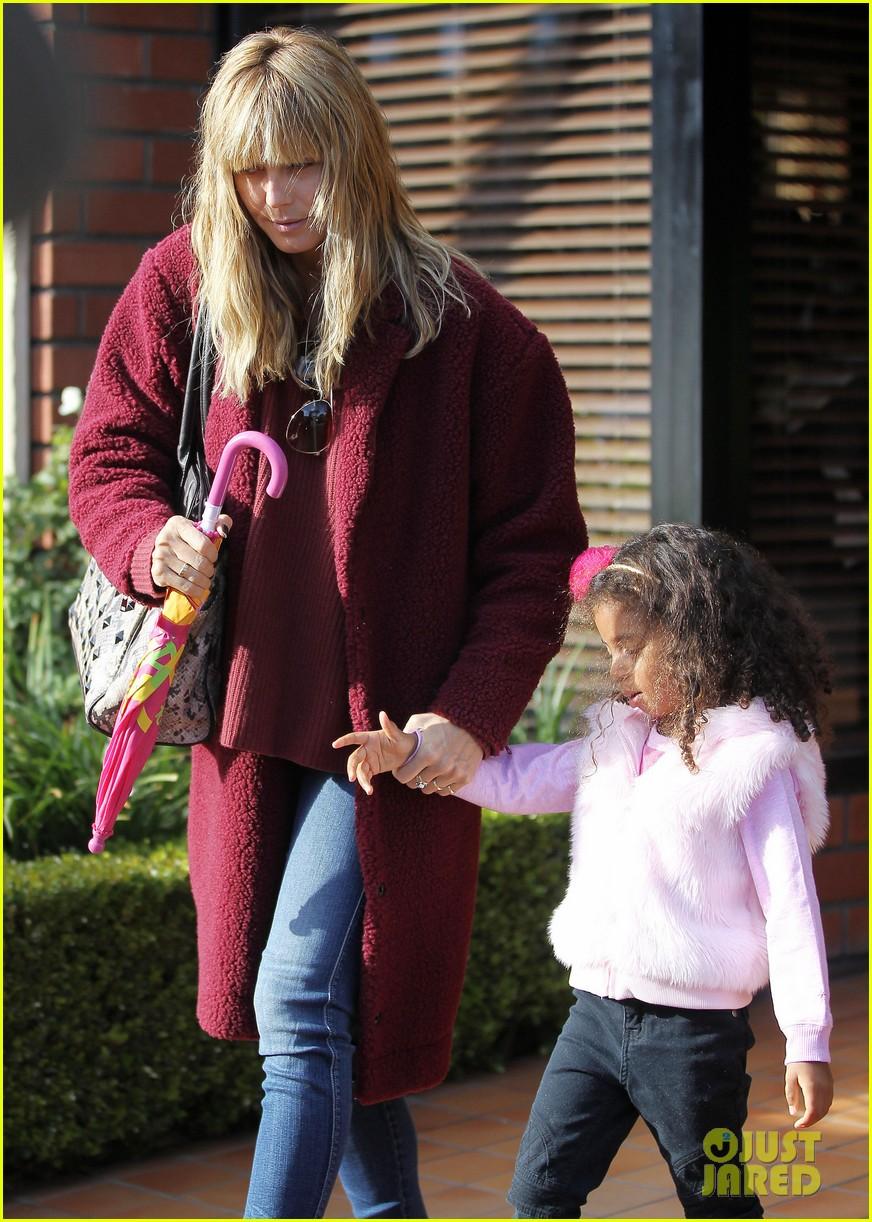 heidi klum spends weekend with her daughters 103007999