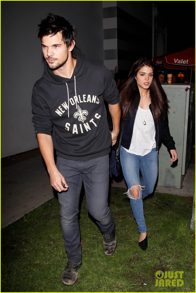 taylor lautner marie avgeropoulos acabar dinner date duo 133010645